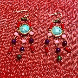 Gently used, EXPRESS Multi-colored Earrings ❤️